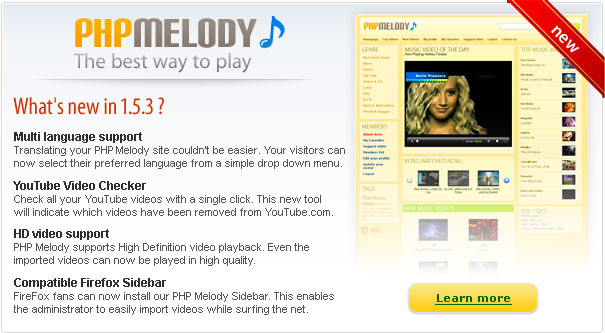 ������ PHP Melody ��� �����  + ������� �����
